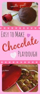 chocolate playdough valentines day activity