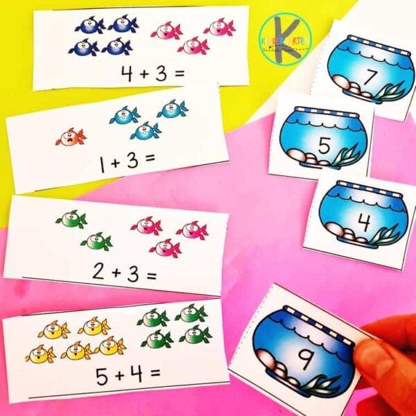 fish additin activity for kindergarten