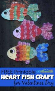 fish valentines day craft