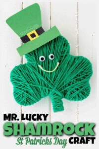 mr lucky shamrock craft for st patricks day