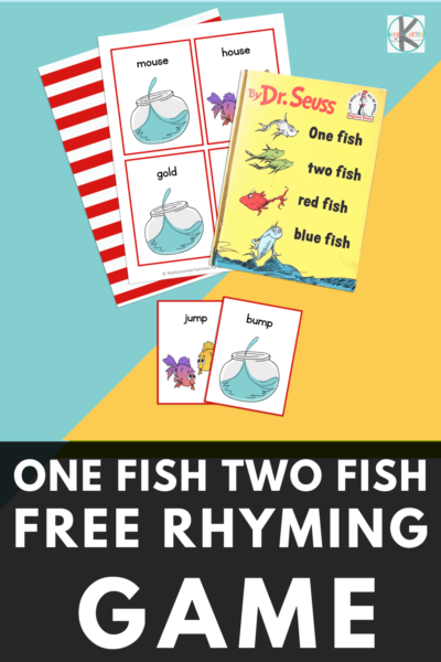 This super cuteone fish two fish activityis a great way to celebrate Dr Seuss Day on March 2nd while working onrhyming for kids. This funrhyming games for kindergartenis a great way to help early learners improve reading skills and fluency with a cutedr seuss printable! Simply download pdf file withone fish two fish printables and you are ready to play and learn!