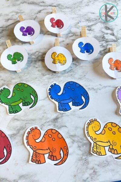 Dinosaur activity for kindergarten
