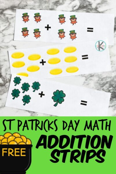 Make practicing adding FUN with this St. Patrick's Day Math for March. Use this st patrick's day math activity with preschool, pre-k, and kindergarten age chidren. This is such a versatile way to practice math and have fun in the process. Simply download pdf file with free st patrick's day printables and you are ready to play and learn!