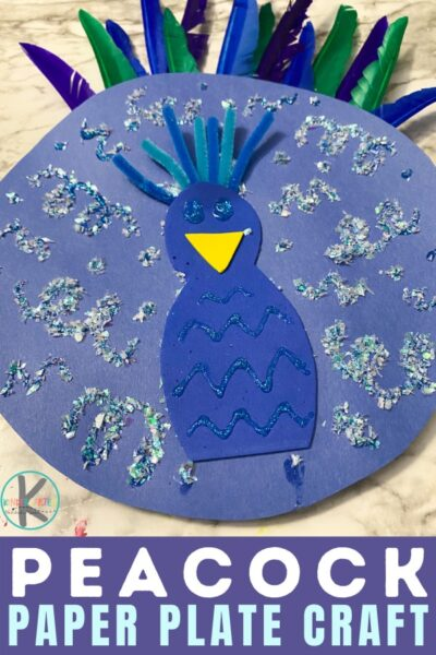 easy paper plate craft - thisPaper Plate Peacock is for you. This peacock paper plate craft is fun for kids of all ages from toddler, preschool, pre-k, kindergarten, and first grade students. Whether you are looking for azoo animal craft or letter p is for peacock, you will love thispeacock craft.