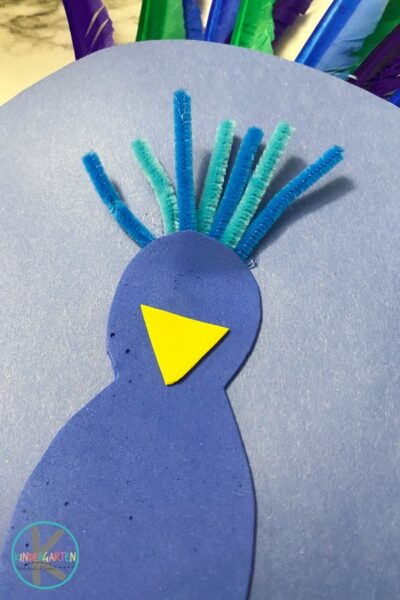 Peacock paper plate craft
