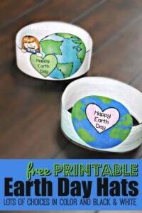 Printable Earth Day Hats