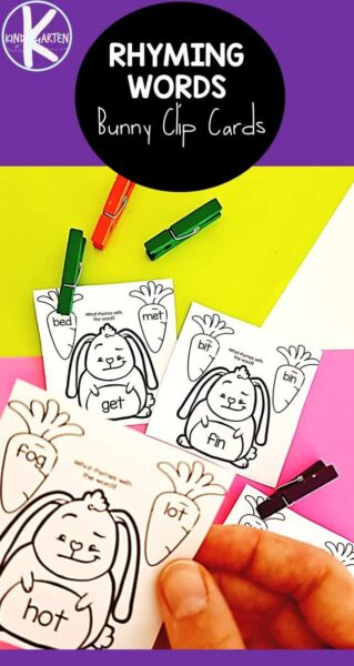 Help children improve fluency with this fun spring rhymingwith a bunny and carrot theme! Thisrhymign activity for kindergarten, preschoo, pre-k, and first grade helps children look for similar patterns and sounds in words - an important early literacy skill! Simply download pdf file withspring worksheetsand you are ready for thisspring kindergarten addition to your school day!