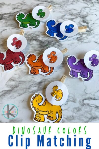 Is your child working on colors? This hands-oncolor matching activity is the perfectDinosaur Activity for your dinosaur theme. All you need for this dinosaur activity for kindergarten is the free dinosaur printable. Use these dinosaur activities for kids to work on color recognition while strengthening fine motor skills too! The fun part about this, for me, is that I can use this game in a variety of ways to help my child learn colors while strengthening other skills as well! Simply download pdf file withcolor matching game and you are ready to play and learn withcolour matching activities.