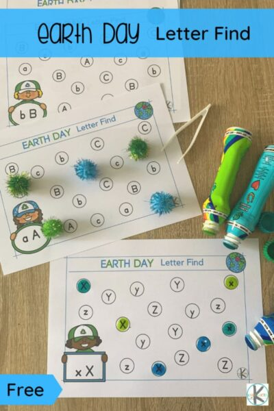 Did you know that Earth Day is celebrated on the 22nd of April? Plan fun Earth Day activities while working on letter recognition with these earth day worksheets. Use theseearth day printables with preschool, pre-k, and kindergarten age children. There is a page for each letter of the alphabet from a to z to go along with whatever letter of the week you are up to or as a review for what you've learned. Simply print pdf file withearth day worksheets for preschool and you are ready to play and learn with theseletter find worksheets.