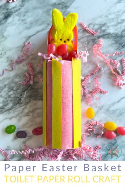 Easter Toilet Paper roll crafts that is a fun Easter basket craft to store little treats in or give to friends.