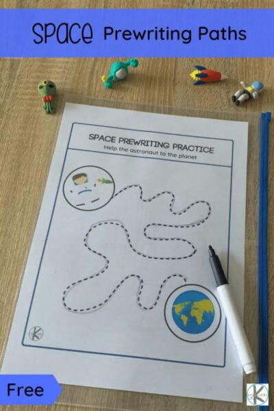 Do you have a preschool or kindergarten age child who is looking for prewriting worksheets? These super cutespace printables are lots of fun for children working on prewriting skills like holding a pencil, controlling a pencil, following lines. Thesepre writing worksheets have kids zoom around in space to help the astronaut go where they need to get. Simply downloadpre writing activities for preschoolers pdf file with the cutepre writing skills worksheets.