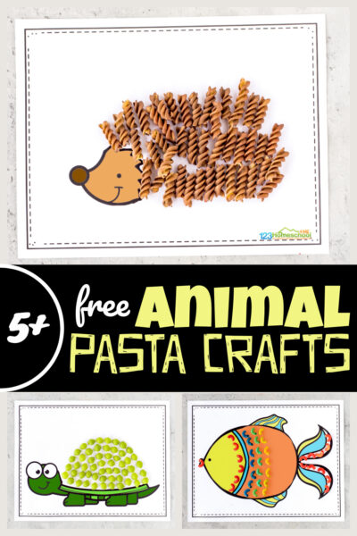 Looking for a clever, unique animal craft for kids? Theseanimal crafts are made with dyed pasta and our freeanimal printables for toddler, preschool, pre-k, kindergarten, and first graders to work on fine motor skills while having fun. Children will enjoy creating thesezoo animal crafts featuring a lion, hedgehog, snake, fish, and more! Simply download pdf file with template and get making some amazingpasta crafts!