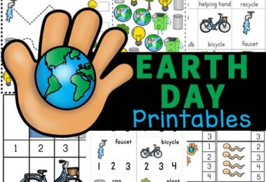 Teach kids about conservation and protecting our planet on April 22nd with these Earth Day Worksheets for kindergarten, pre-k, and first grade!
