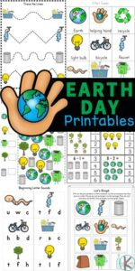 Teach kids about conservation and protecting our planet on Earth Day for kids with these fun Earth Day Worksheets. These Earth day worksheets for kindergarten, preschool, pre-k, and first grade students are perfect for celebrating Earth Day on April 22nd. Students will love working on math and literacy skills with theseearth day worksheets for kids! Simply print pdf file withearth day worksheets for preschool and have fun playing and learning withearth day activities.
