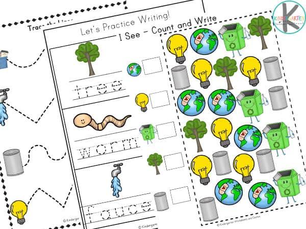 Earth Day Worksheets for Kindergarten