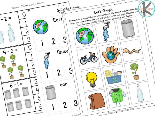 Earth Day Worksheets for Preschool