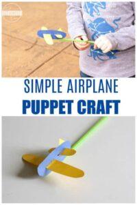 straw airplane craft for kids