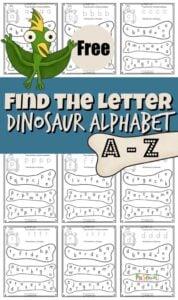 dinosaur alphabet printables