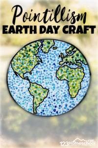 pointillism earth day craft