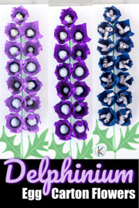 This stunningly beautiful delphinium craft is super pretty and such aneasy flower craft for kids of all ages! Thissummer craft for kids helps kids recreate the tall, magestic, and prettyegg carton flowers in such a stunning, but simpleflower craft for kids. Use thisflowre art for kids with toddler preschool, pre-k, kindergarten, first grade, 2nd grade, and 3rd graders too.