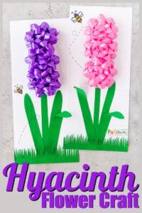 Hyacinth flower craft