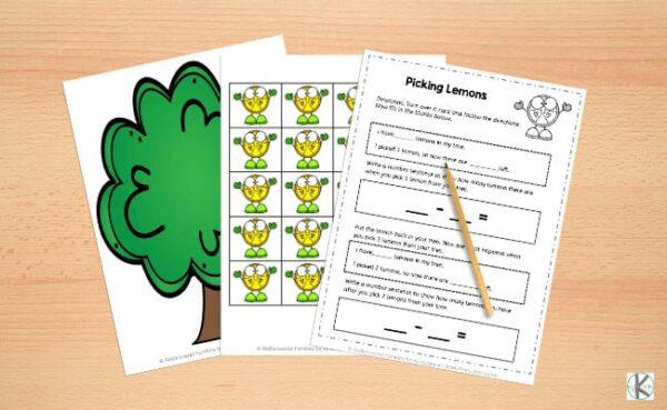 subtraction games for kindergarten