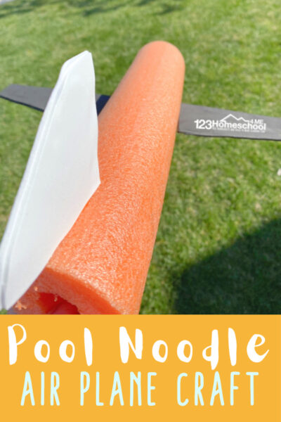 WOW your kids with a pool noodle airplane craft that can fly!  Try thisplane craft with kids of all ages as a  summer craft for kids or a  STEM project.