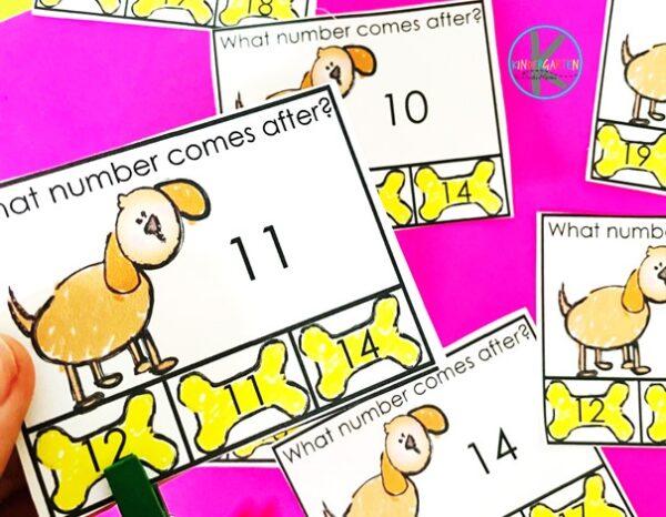 teen numbers kindergarten