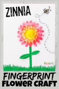 zinnia flower craft