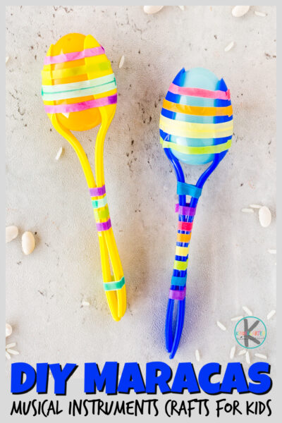 Kids will have fun making these super cuteDIY Maracas. Not only is this a funmusical instrument craft for toddler, preschool, pre-k, kindergarten, first grade, 2nd grade, and 3rd graders, but a funmusic activity for kidstoo! TheseDIY musical instruments for kids couldn't be easier to make and they are loads of fun to play with and make music as well. Whether you are a parent or teacher, you will love making thesehomamde musical instruments!