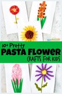 pasta Flower Crafts for Kids