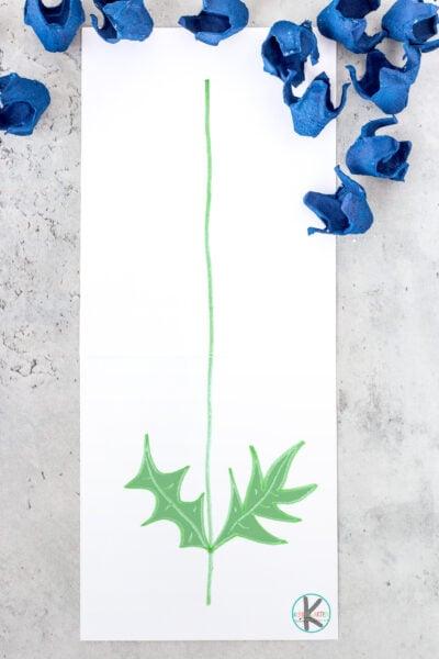 egg carton flower craft for kids