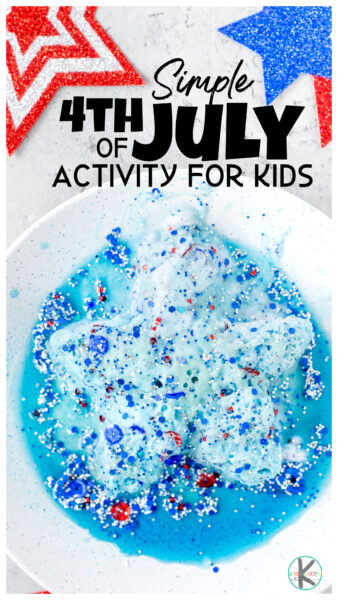 If you are looking for a4th of July activity this Independence Day that sneaks in some learning, you will love this fourth of July science experiment. This4th of July science experiment has a fun red, white and blue star experiment themed for our American flag, akaThe Star Spangeled Banner. Try this4th of July fun project with toddler, preschool, pre-k, kindergarten, first grade, and 2nd graders for some hands-on play.