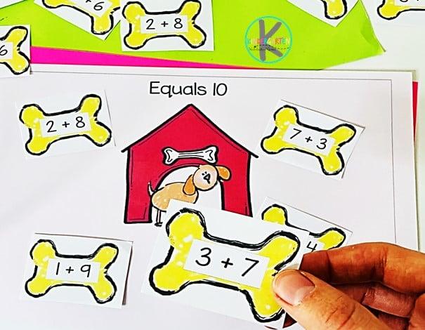 Addition Activity for Kindergarten