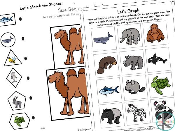 Animal Worksheets for Kids