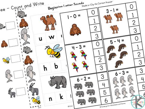 Animals Worksheets for Preschoolers