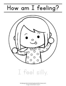 I am feeling silly emotion coloring page
