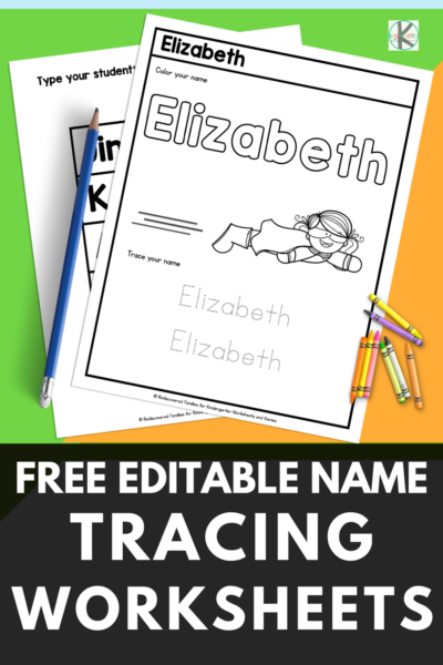 Need a quick activity for kids learning to write? Try our FREE editable name tracing worksheets. Type in the names and the worksheets autofill.
