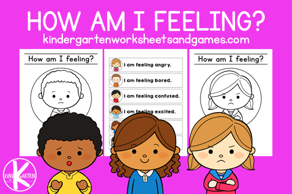 Learn about emotions with free printablefeelings worksheets! Color and trace thesecoloring pages for kids preschoolers and kindergarteners.