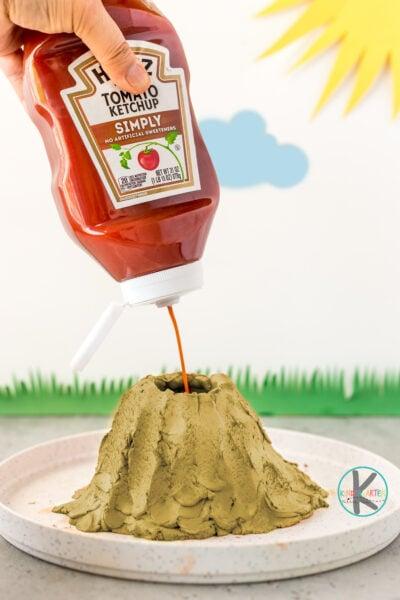 Ketchup and Baking Soda Volcano