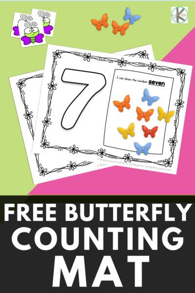 Are you looking for an easy way to help students practice counting and number recognition with a clever butterfly math activity? Our FREE butterfly counting mats are a great way to help children from preschool, pre-k, and kindergarten age childre practice learning numbers 1 to 10. Simply print pdf file with butterfly printables and you are ready to play and learn!