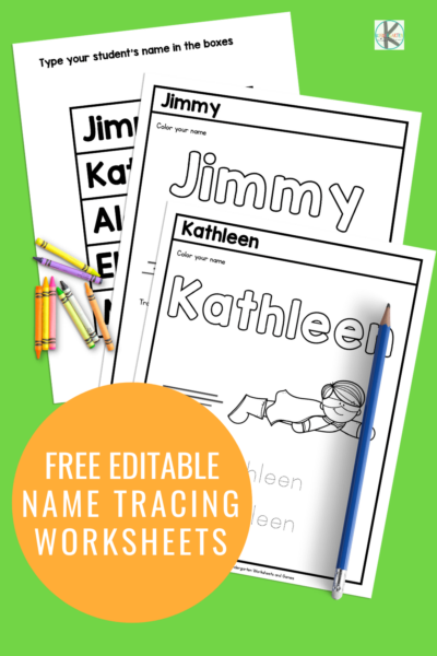 Free personalized editable name tracing worksheets. Can be edited for any name. Perfect for the start of the school year. Quick autofill makes it easy to create worksheets for the whole class. Click over to grab your free copy.