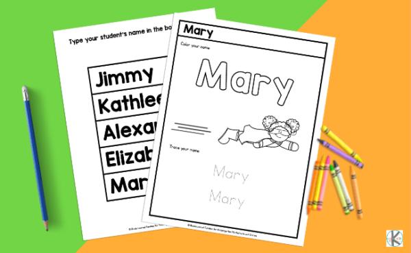 Name Tracing Worksheets pdf