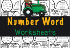 Work on learning number names with these super cute, free printable, Number Word Worksheets. These farm theme math worksheets work on numbers 1-10!