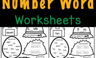 number word worksheers
