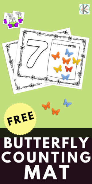 Make counting numbers 1-10 a fun hands-on activity with our printable butterfly mats. Perfect for Kindergarten math centers! Click through to snag your FREE set of counting mats.