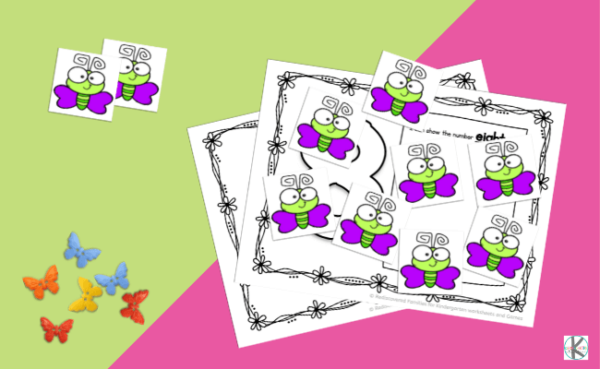 Are you looking for an easy way to help students practice counting and number recognition with a clever butterfly math activity? Our FREE butterfly counting mats are a great way to help children from preschool, pre-k, and kindergarten age childre practice learning numbers 1 to 10. Simply print pdf file withbutterfly printables and you are ready to play and learn!