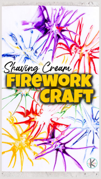 Are you looking for a quick, easy, and FUNSummer fireworks craft? You are going to love thissimple shaving cream artproject! Make a super coolfirework craft using shaving cream and food coloring. Thisshaving cream craft is perfect for toddler, preschool, pre-k, kindergarten, first grade, and 2nd graders too. With the simple technique, you will not believe what beutiful firewrork craft for summertme you can make!