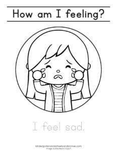 sad coloring page