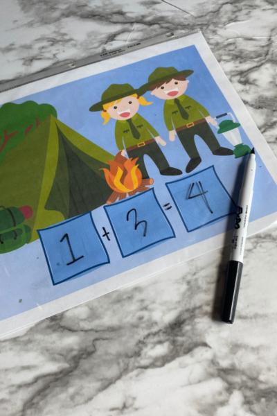 camping math activity